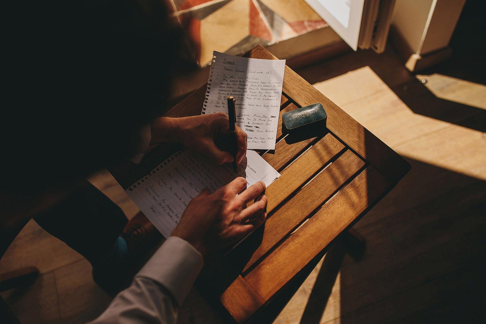 groom write a speech