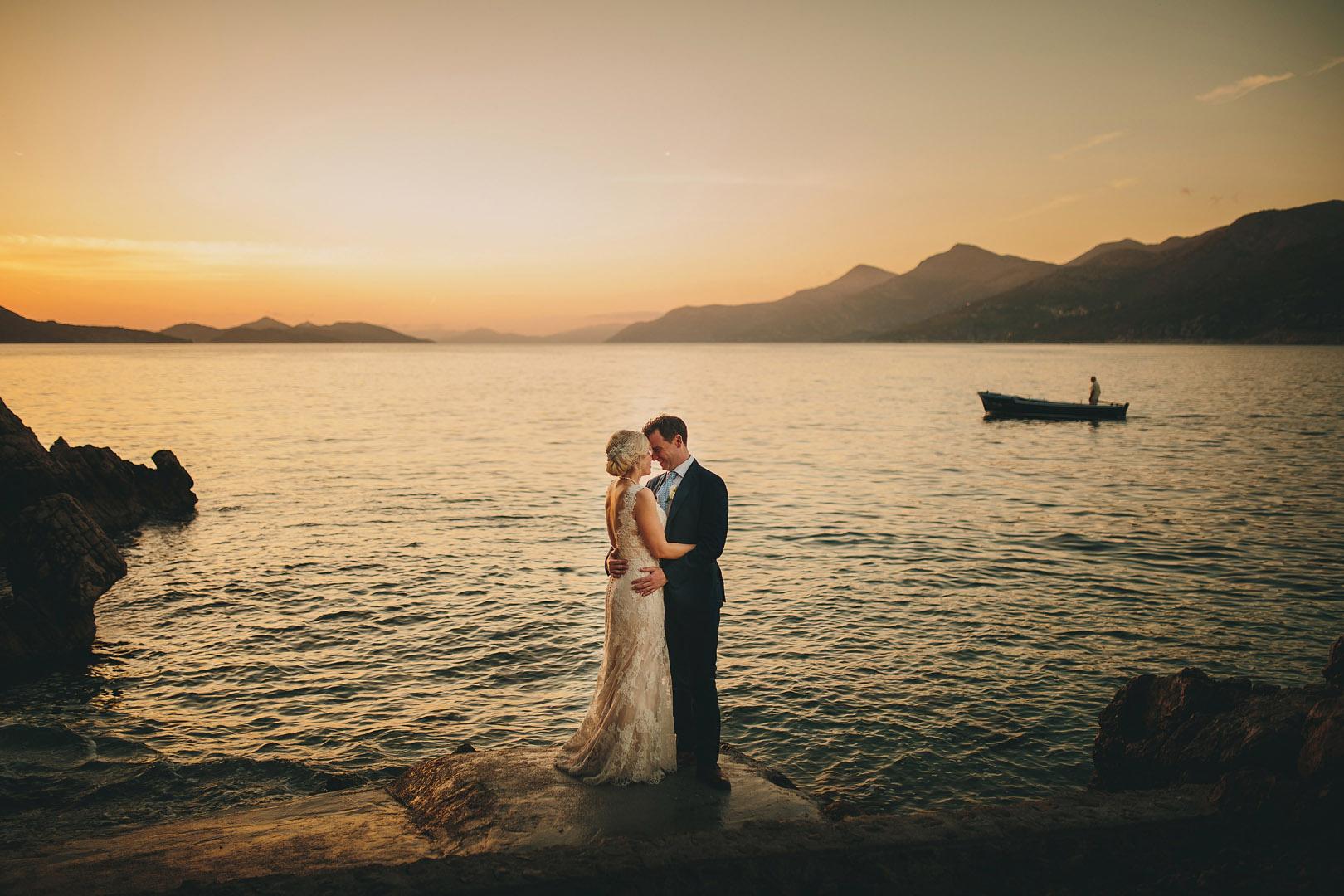 bride and groom kolocep island