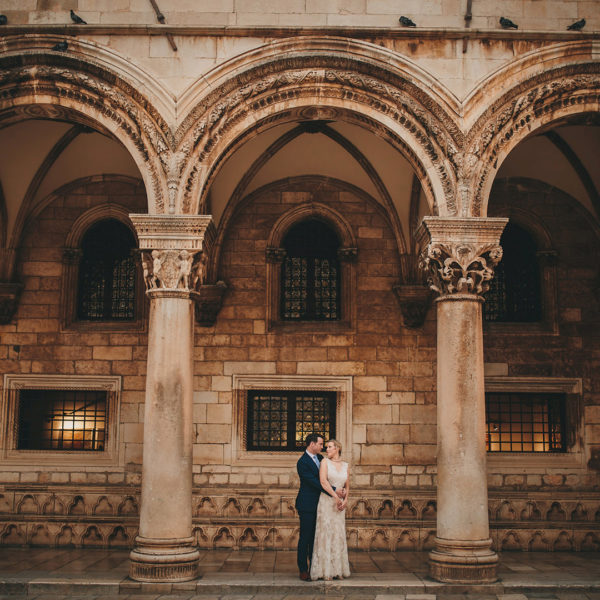Romantic wedding in Dubrovnik old town and Kolocep island