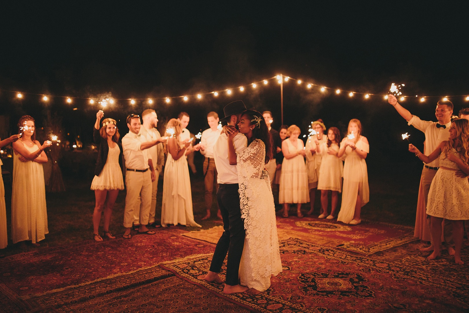 bohemian unique wedding ideas for dance floor